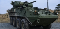 Army Stryker with Soldiers