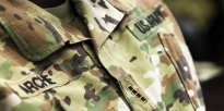 A close-up view of the warrant officer rank on the uniform of a U.S. Army Chief Warrant Officer 4