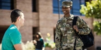 ROTC Tuskegee Cadet greeting each other
