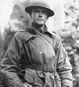 Chaplain (Maj.) Francis P. Duffy poses in an undated photo. Duffy, a Catholic priest, is one of the most celebrated chaplains from World War I. He accompanied litter bearers into battle to help recover the wounded and recived the Distinguished Service Cross, among other awards, for his bravery under fire. (Photo courtesy of the U.S. Army Chaplain Center and School)