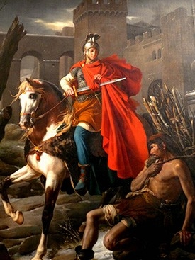"Martin of Tours. Said to be part of the Origin of the word ""Chaplain""."