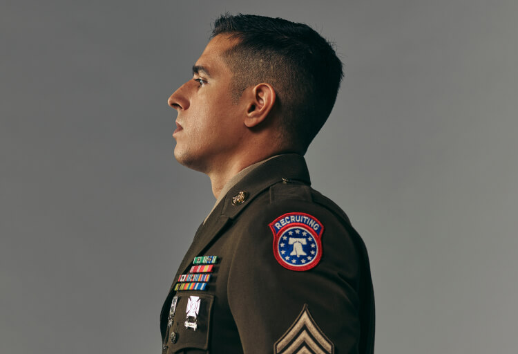 Portait view of Sgt. Corey Song, recruiter