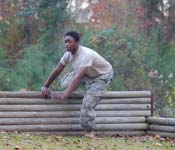Cadets build their confidence by participating in confidence building obstacles.