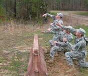 The Ranger Challenge competition includes various military oriented events including the grenade throw as pictured above.