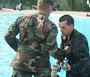 Cadets are introduced to new skills and to current skills under new conditions. Each cadet passes the Army's Combat Water Survival Test before commissioning.