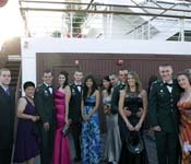 ROTC isn't always about hard work and training. Cadets also participate in formal events like the annual Dining Out, an evening of fun, food, and socializing. In May 2010, the event was held aboard the Queen Mary, a ship docked in the Long Beach Harbor.