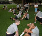 Regular exercise and physical conditioning keep cadets healthy and ready for any challenge.