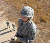 Cadets learn a variety of new skills, such as rappelling. This kind of adventure is a staple at ROTC training events.