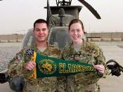 Class of '07 Captains Brown and Welsch, both flying Kiowas in Afghanistan