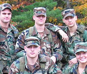The cadets of the Battalion come from Clarkson, St Lawrence, SUNY Canton, and SUNY Potsdam. The senior cadets plan and execute the training. Juniors lead small units through tactical training, as they prepare for camp. Sophomores and freshmen learn by seeing and doing, as they explore officership in the Army as a career choice.