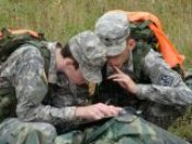 Cadets practicing their land nav skills at Stone Valley