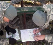 Cadets from The Blue Mountain Battalion excel at land navigation.