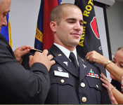 Upon Completion of the ROTC program a cadet will earn their commission into the United States Army as a 2nd lieutenant. 2nd Lieutenants immediately earn up to $40K a year and manage 30-50 Soldiers.