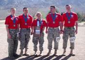 Fighting Saints Battalion placed first in the ROTC division, first in the Military Coed division, and second in the Civilian Coed division during the 22nd Annual Bataan March at White Sands Missile Range, NM.