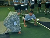The Army Physical Fitness Test consists of two minutes of push-ups, two minutes of sit-ups, and a two-mile run.