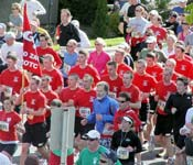 Every member of the Bulldog Battalion participates in Spokane's annual fun run, Bloomsday. Bloomsday is a 7.2 mile run that has 50,000 plus participants every year. We run in formation and call cadence as other Bloomsday runners cheer us on.
