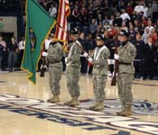 Our cadets are involved with many activities on campus. One of the benefits of being a part of Gonzaga ROTC is being able to participate on the floor with division I athletes. We have even had cadets who participate on the division I teams. We are all part of a team at Gonzaga University.