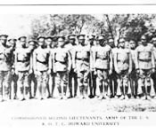 Howard University Army ROTC cadets are very proud of their Battalion's legacy. Howard University has produced numerous fine officers since the birth of the program in 1918.