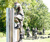 Cadets train on a variety of skills. Often problem solving and physical endurance are tested with obstacle courses like the one pictured above. These courses help build teamwork and teach cadets to trust one another. Cadets are challenged in the classroom, in the field, and in their working relationships. They receive expert mentorship from faculty who have made a career of developing people just like you. The faculty members come from diverse backgrounds and can provide guidance in a number of different fields outside the military.