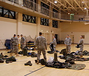 Cadets need to ensure they have all their gear prior to leaving for the field.