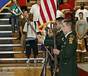 Color Guard cadets are highly disciplined, and exhibit the drill and ceremony skills taught to all cadets with perfection.