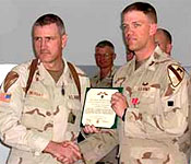 Bill graduated and was commissioned in Dec. 02, deployed March 04 and was at Forward Operating Base Headhunter on Haifa Street for most of his time in Baghdad.