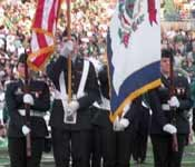The Thundering Herd Color Guard presents the colors before at all home football games.