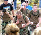 NMSU cadets help sponsor and compete in the Bataan Memorial Death March at White Sands Missile Range