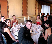 Every semester, Cadets plan and participate in the time-honored and lavish Military Ball. Cadets wear their best attire, bring dates, and dance the night away.