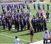 Cadets participate in numerous NSU events, to include strong support to the athletic programs.