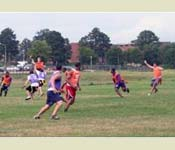 The Demon Battalion battles on the intramural flag football field.