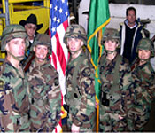 In 2004, the PLU ROTC Color Guard posted the Colors during the opening ceremonies of the Tumwater Bullride in Tumwater, WA