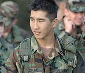 Leadership- Those skills necessary to be able to effectively lead a group of people, united by a common purpose, to complete the mission with purpose, motivation, and direction. Here, Junior Cadet Chae leads his squad through a tactical situation, using those skills he has learned, honed, and exemplified.
