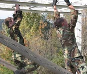 Cadets are given several different opportunities to conduct different types of military training. From Airborne School to Obstacles Courses, Cadets advance their military knowledge and have fun!