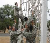 Cadets build confidence and navigate an obstacle course at the annual Fall Field Training Exercise. Come to Santa Clara where you will be challenged to become one of the nation's best – an Army officer. Join the winning team at Santa Clara University, San Jose State, and Stanford!