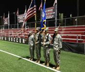St Johns maintains a Color Guard team which performs at sports games and ceremonies. They perform both on and off campus at several universities and at Madison Square Garden.