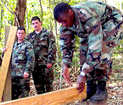 Cadets learn a variety of skills such as working as a team to meet the mission at hand.