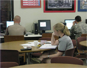 Cadets have plenty of time to study and have access to several computer equipped study lounges.