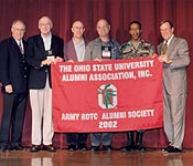 The Army ROTC Alumni Society exists to support the Buckeye Battalion cadets and cadre and to promote relations among alumni, cadets, and the university. The Army Reserve Officer Training Corps has a rich history extending over 100 years on the Ohio State University campus. Thousands of military and community leaders have launched their careers through the program. Through a variety of events, the society provides a way to share the tradition with cadets, to learn what's new in the Buckeye Battalion, and to honor cadets and alumni. Through our social events, e.g., the football homecoming, and various awards programs, the society hopes to promote the spirit and keep alive the legacy that is ROTC at OSU. Today's ROTC cadets are training to lead the Army of the future, and they deserve the support of the university and the alumni. We have enjoyed a brief 'peace dividend', but we must continue our training and vigilance for new defense challenges around the world and at home.