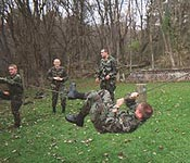 Cadets put what they have learned to the test. The Battalion consists of various leadership positions. Cadets are challenged on a daily basis as they execute these positions.