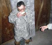 Even during our rigorous training we still some time to eat, why not try the MRE Cracker Challenge!! Any Takers?