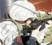 Firing the M4 rifle at a firing range enhances confidence in one's abilities.
