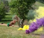 New recruits learn a variety of skills such as lobbing smoke grenades.