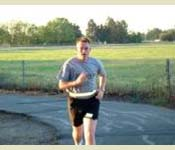 A new recruit runs during the Army Physical Fitness Test.
