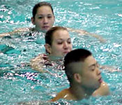 ROTC Cadets must learn and instruct Army water safety techniques.