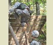 Cadets apply problem solving skills during FLRC where teamwork and creative thinking are essential.