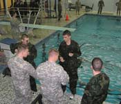 Cadets Preparing for Combat Water Survival Training