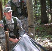 Cadets from the Yellow jacket Battalion learn valuable leadership skills during field training events and weekly lab.