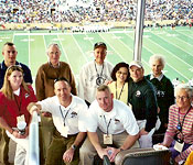 ROTC Alumni: COL (Ret.) Gene Clysdale and his wife, CW4 (Ret.) Herb Kenz and his wife. Cadets: Phil Leathead and Kim Rottenberg. Cadre: LTC Don Phillips and MAJ Tim Russell and his wife. Alumnus and Cadre: CPT Chad McDaniel.