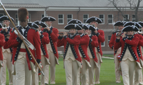 Army band in traditional uniforms
